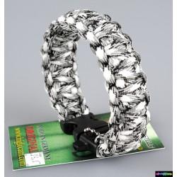Armband Basic doppelt - Weiß Camo