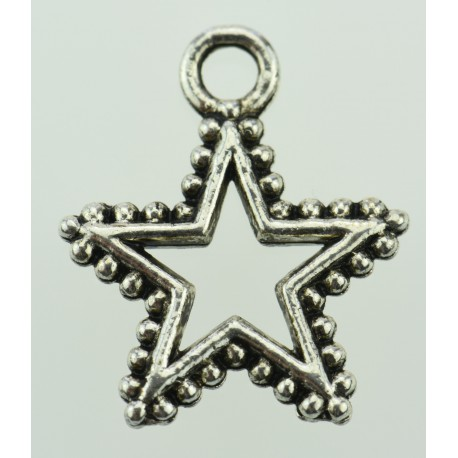 Beads Charms aus Metall - Stern -