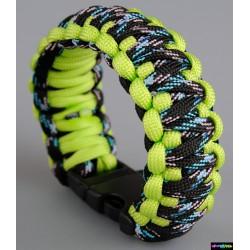 Armband Basic doppelt - Schwarz-Rotes Himmelblau