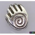 Beads Tibet Charms aus Metall - Hand - Spirale -