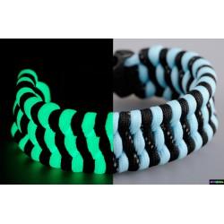 Armband Mosaik Flurozierende turkis - Schwarz mit reflektierenden Streifen