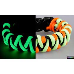 Armband Flurozierende dreifarbig schwarz-orang-neongrün