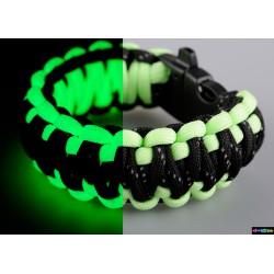 Armband Basic doppelt Flurozierende grün - Schwarz mit reflektierenden Streifen