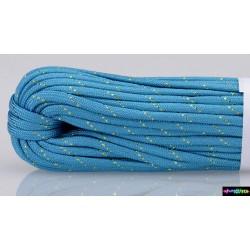 Neon skyblau mit goldenen Streifen