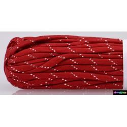 Rot mit silberenen Streifen