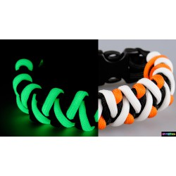 Armband Flurozierende dreifarbig schwarz-orang-weiß