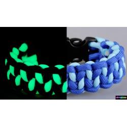 Armband Zigzag Flurozierende helles lichtblau - blau