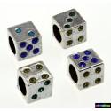 Beads Tibet Charms aus Metall - Spielwürfel -Steine -