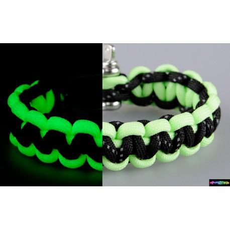Armband Basic Flurozierendeneongrün-schwarz mit reflektierenden Streifen