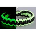 Armband Basic Flurozierende neongrün-schwarz mit reflektierenden Streifen