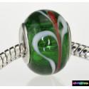 Zylinder Tibet Charms aus Glas