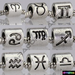 Tierkreiszeichen aus Metall