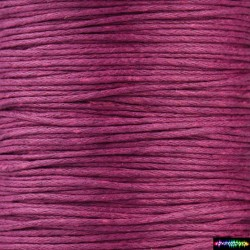 Wax Cord 1 mm Bordeauxrot