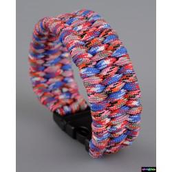 Armband Mosaik rot-blau-weiß -- pink-schwarz-rot Camo