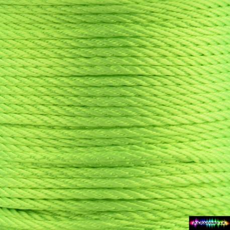 12 Meter Polyescord 2 mm Neongrün