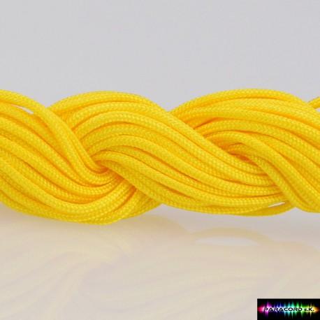 Nylon Kumihcord 1,5 mm Gelb