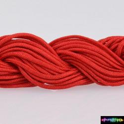 Nylon Kumihcord 1,5 mm Rot