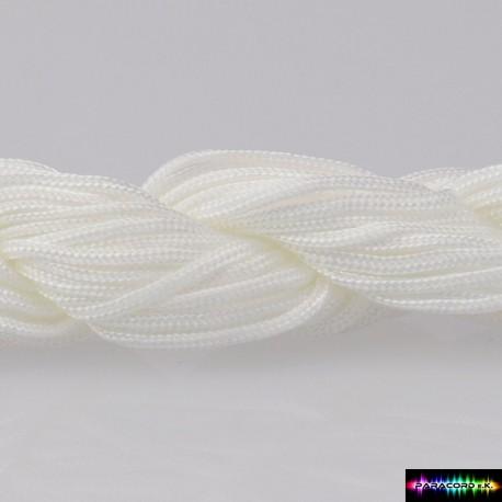 Nylon Kumihcord 1,5 mm Weiss
