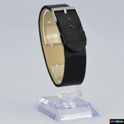 Armband aus Kunstleder Schwarz
