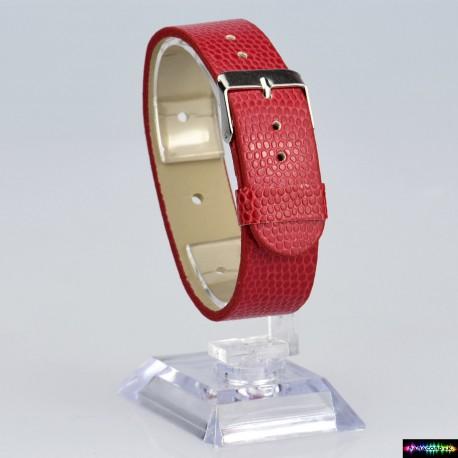 Armband aus Kunstleder Rot