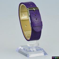 Armband aus Kunstleder Lila