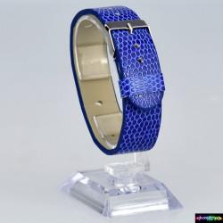 Armband aus Kunstleder Blau