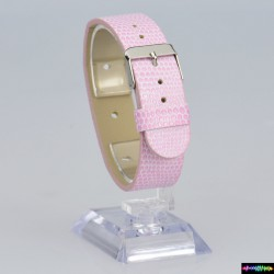 Armband aus Kunstleder Rosa