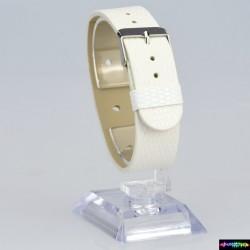 Armband aus Kunstleder Weiss