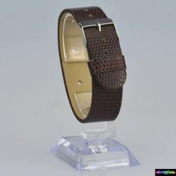 Armband aus Kunstleder Braun