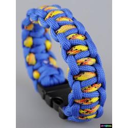 Armband Fire blau-gelb Camo