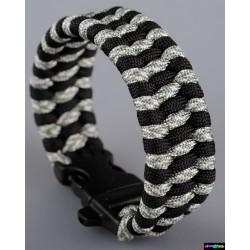 Armband Mosaik Schwarz-grau Camo