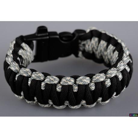 Armband Basic doppelt - Schwarz - grau Camo