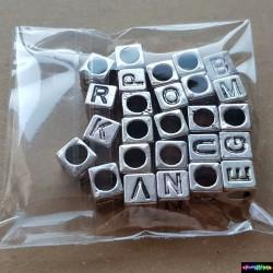 Set1 aus 26 St. Metall Buchstaben