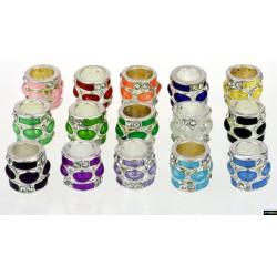 Zylinder Tibet Charms mit Steine 11,4*10 mm