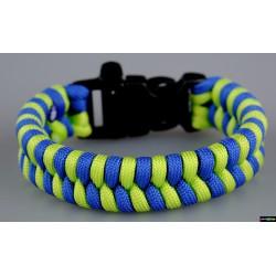 Armband Biene - blau-neongrün