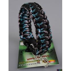 Armband Basic doppelt - Schwarz sky Camo