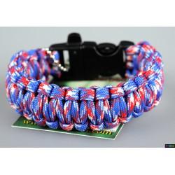 Armband Basic doppelt - rot-blau-weiß