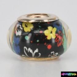 Zylinder Tibet Charms aus Acryl -Blume-