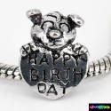 Beads Charms aus Metall - Happy Birth Day -