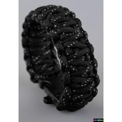 Armband Basic doppelt - schwarz mit reflektierenden Streifen