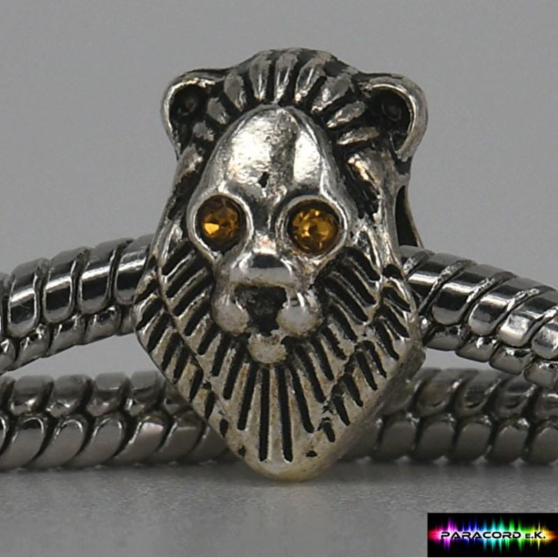 Beads Charms aus Metall mit Steine - Löwe - - Paracord e.K.
