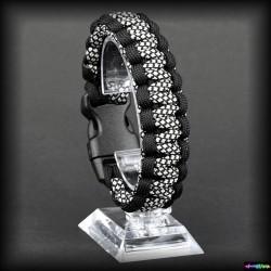 Armband Basic - Schwarz - Diamond Silver