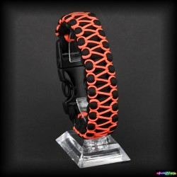 Armband Basic - Schwarz- Orang Wax