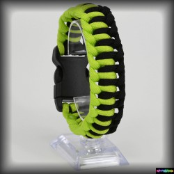 Armband Poloski - Neongruen- Schwarz