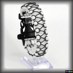 Armband Basic - Weiss- Schwarzcamo Wax