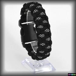 Armband Basic Kapla - Schwarz - Diamond Silver