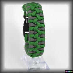 Armband duble Zamok -Neon forestgreen - Graphitgrau