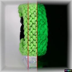 Armband Brutalmann - Fluo. grün mit refl. Str.