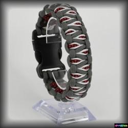 Armband Kapla - Graphitgrau - Diamond Rot -