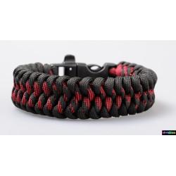 Armband Feuer schwarz- rot Camo